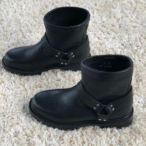 Durango Kids Black Leather Short Harness Boot 2420